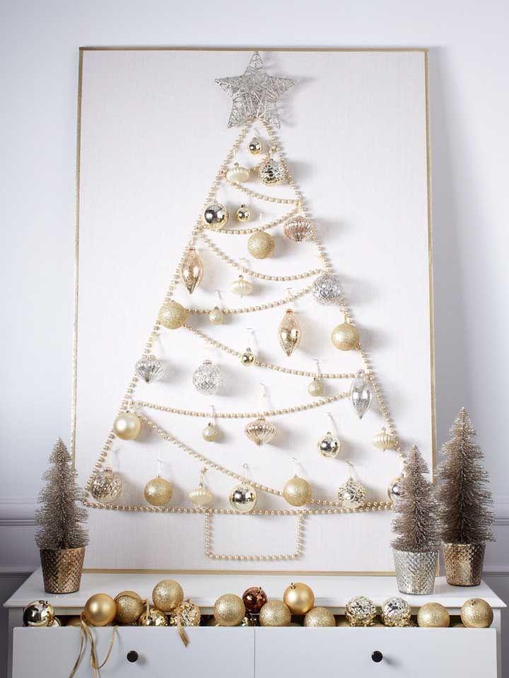 Christmas panel with balls and lights