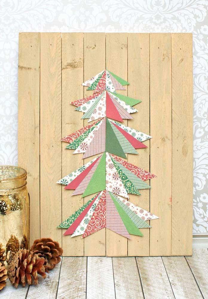 Wooden Christmas panel