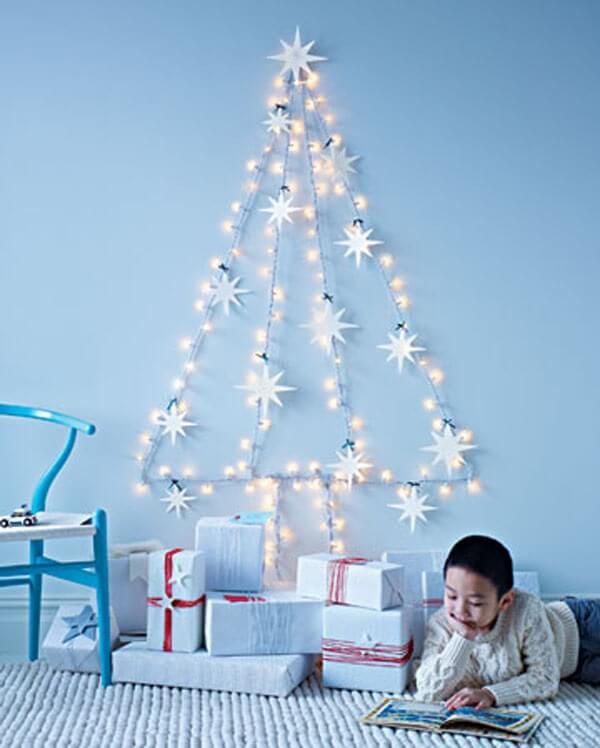 Christmas panel with lights
