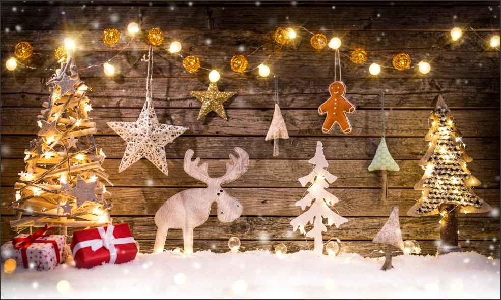 Illuminated Christmas panel