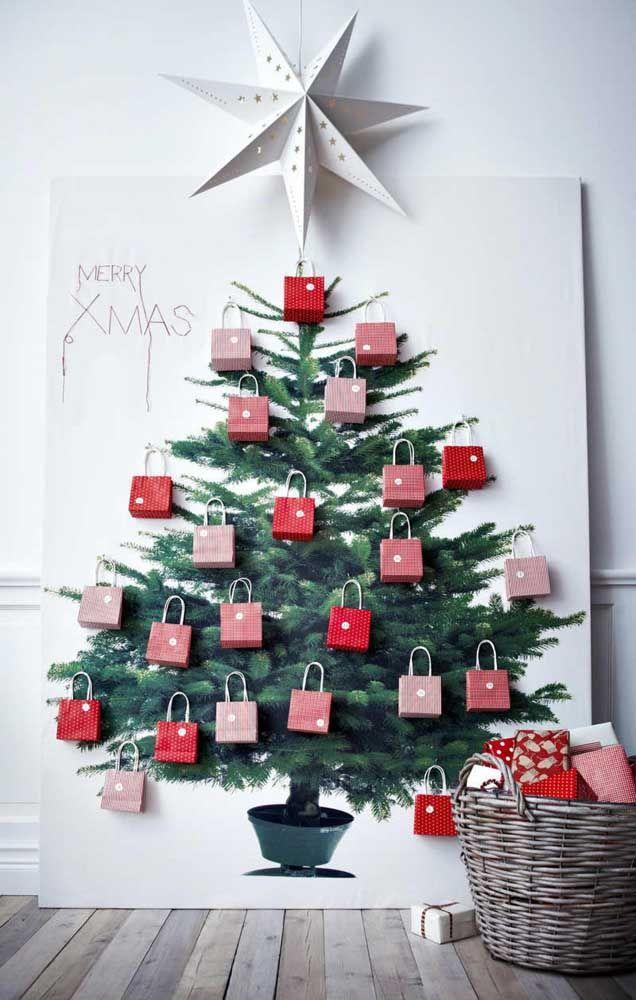 Christmas panel with gifts