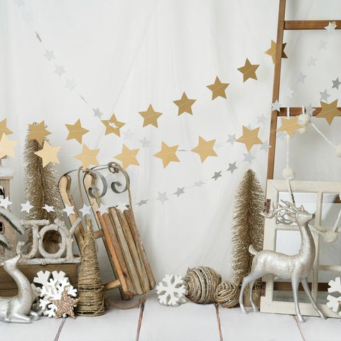 Decorated Christmas panel