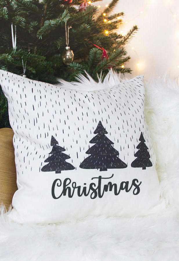 Christmas decorative tips with pillow for modern room Foto Elle Decor