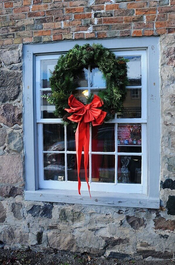 Christmas decorative tips for window Photo Rustic & Woven