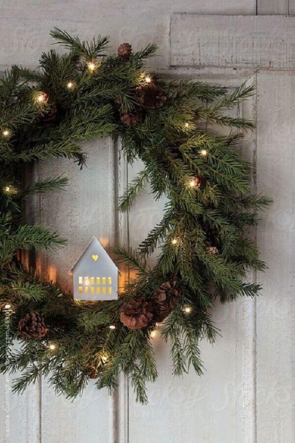 christmas ornament for door with blinker for garland Foto Pinterest