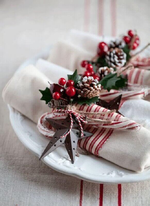 Christmas table decorative ideas Foto Ideias Decor