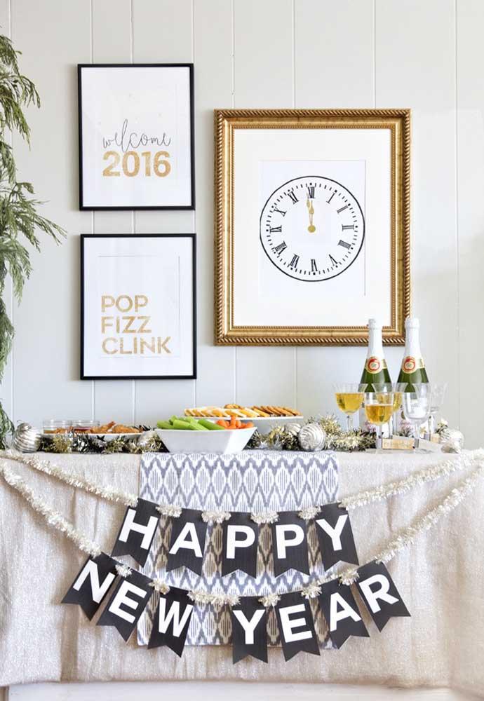 "New Year's Eve dinner ""merry christmas"""