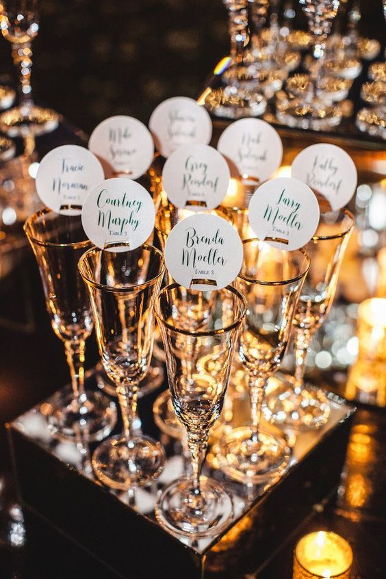 New Year's Eve dinner with personalized drinks