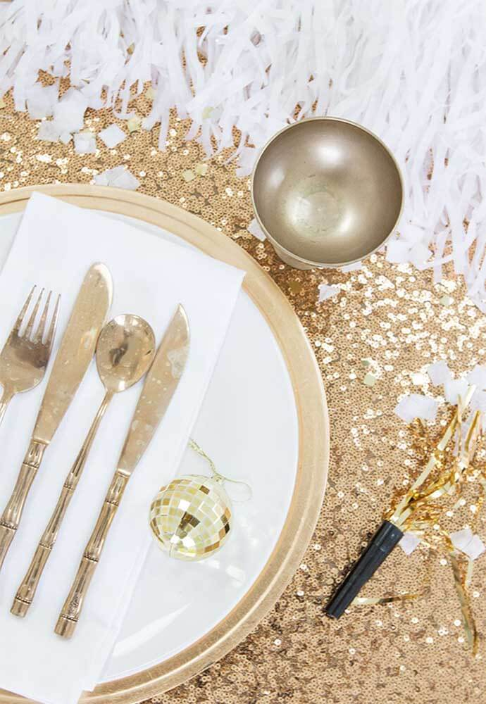 Table for reveillon supper
