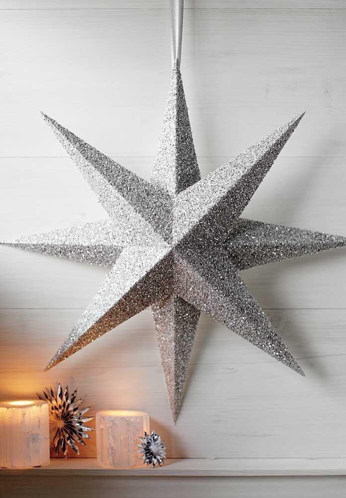 Silver star for New Year's Eve dinner