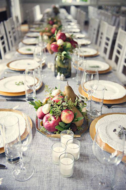 Dining table for reveillon supper