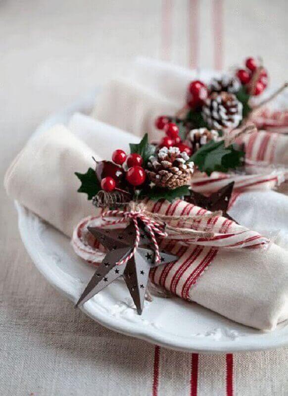 Christmas table decoration for napkin Photo Decor Ideas