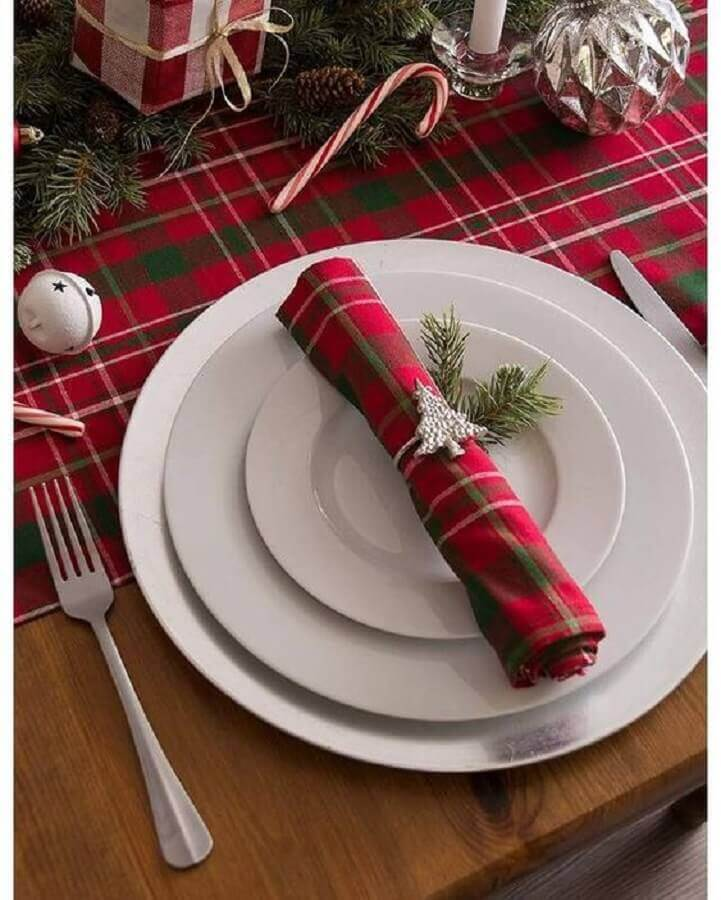 red checkered decorated napkin for christmas table Photo ShopStyle