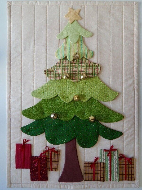 Amellie patchwork Christmas panel