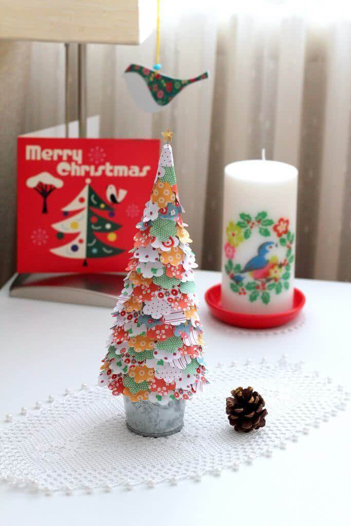 Christmas craft made with printed fabric