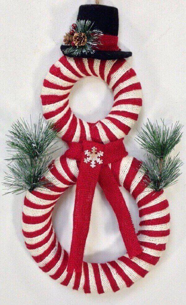 Creative Christmas wreath