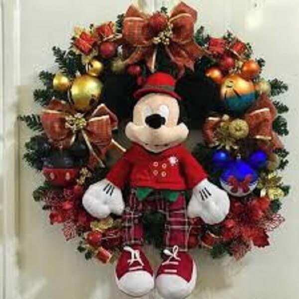 Christmas ornament made with Mickey character