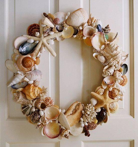 Mermaid sea shells Christmas garland diy