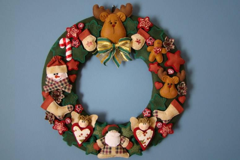 Handmade felt Christmas ornament