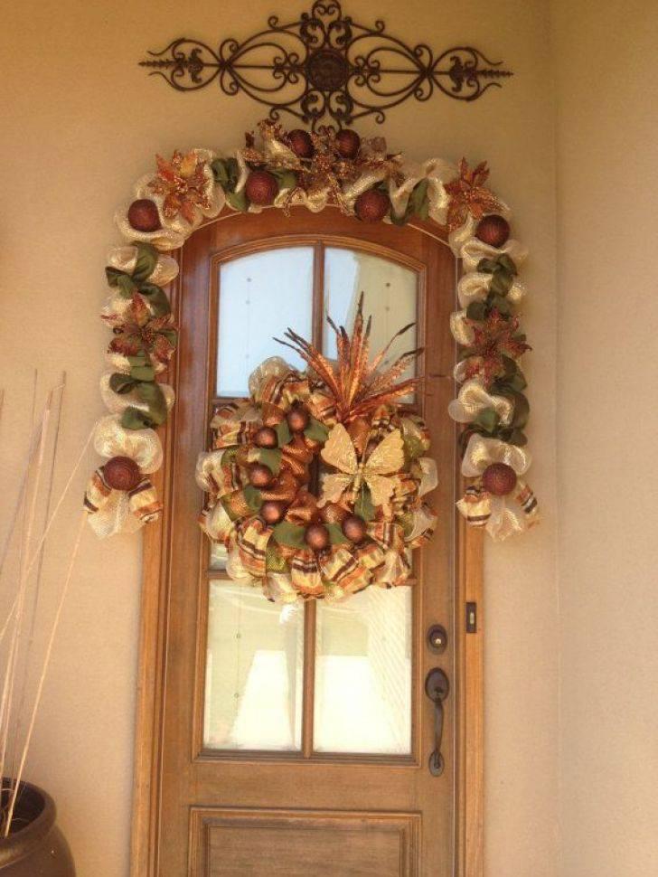 Elegant copper Christmas garland