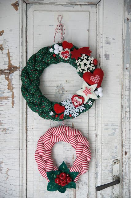 double christmas wreath