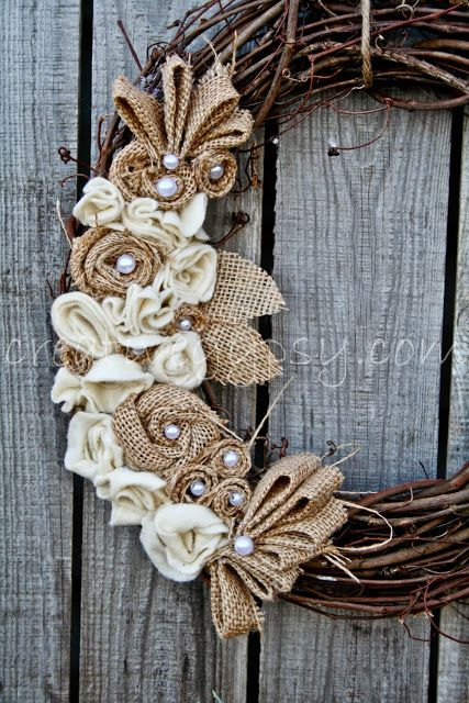 woven and pearl christmas wreath