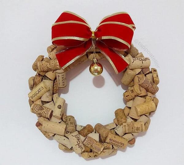 Christmas wreath made with jujube candies