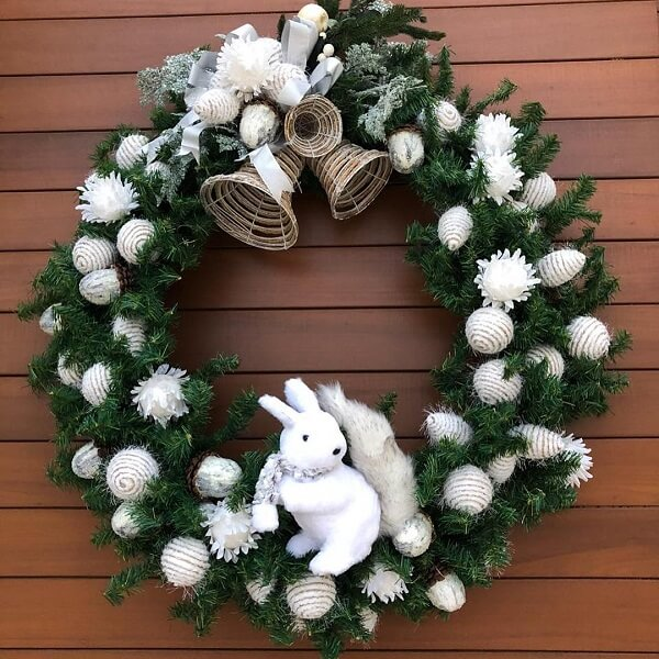 Christmas ornament with rabbit