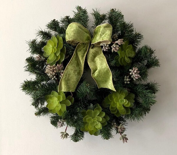 Christmas wreath in shades of green