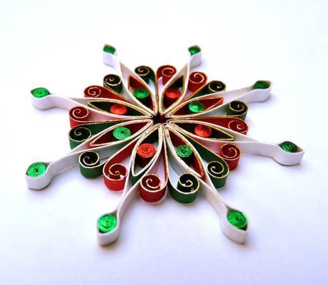 Handmade christmas mandala