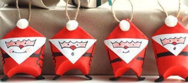 DIY Paper Santa Claus Christmas Craft
