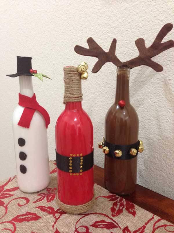 Christmas Craft christmas bottles christmas-craft