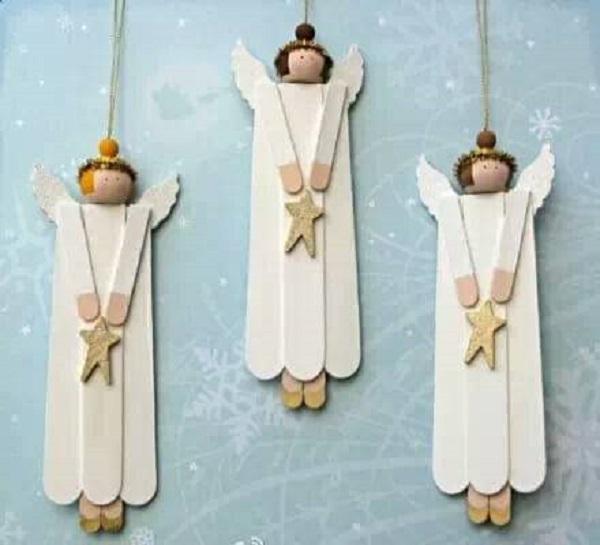Kids-Hand Christmas Angels Craft