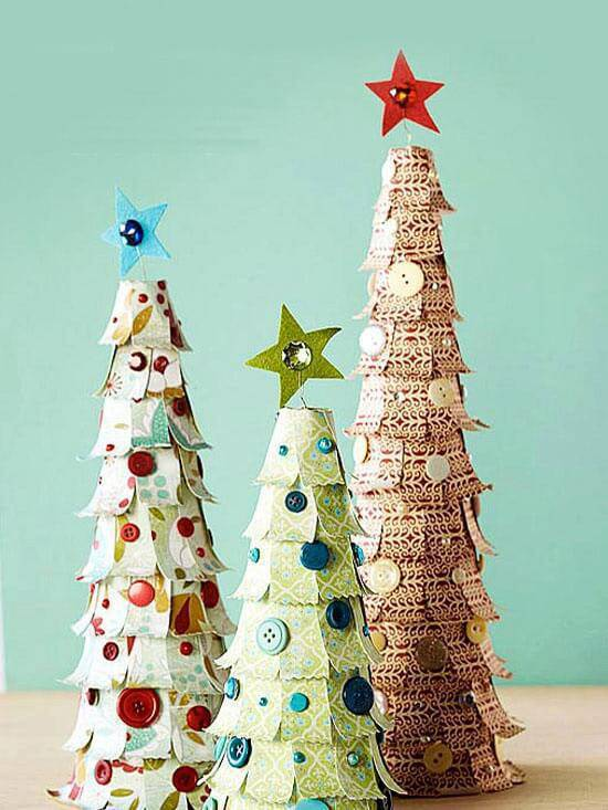 Christmas tree handmade christmas craft paper