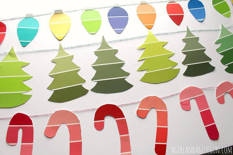 Christmas candy-cane-garland crafts