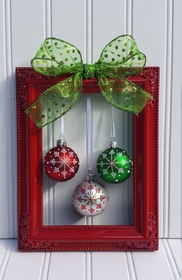 Christmas crafts with picture frame