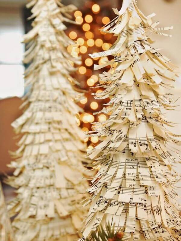 Christmas crafts with musical notes paper