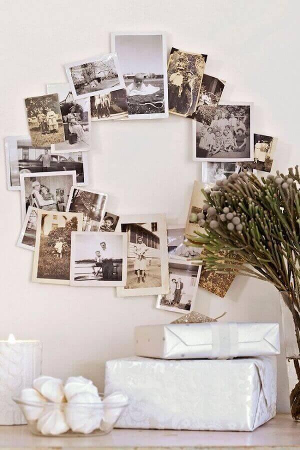 Handmade christmas garland with photos