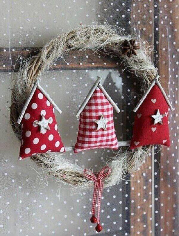 Handicraft christmas garland for door