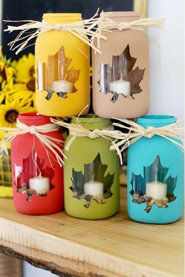 Handicraft christmas glass pot to put candles