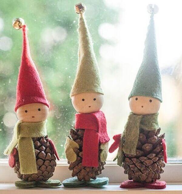 Christmas crafts elf ornaments