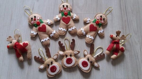 Handicrafts christmas decorations felt