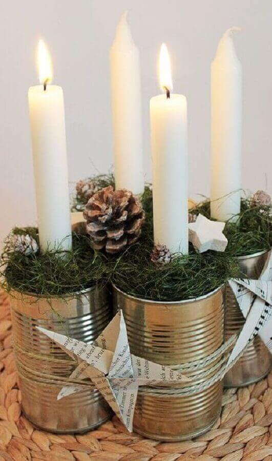 Simple Christmas ornament idea with pinecone and candles Christmas Glitter Photo