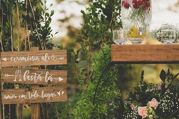 Wooden Wedding Information Boards
