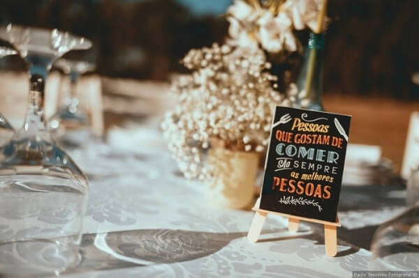 Wedding signs to be displayed on the guest tables