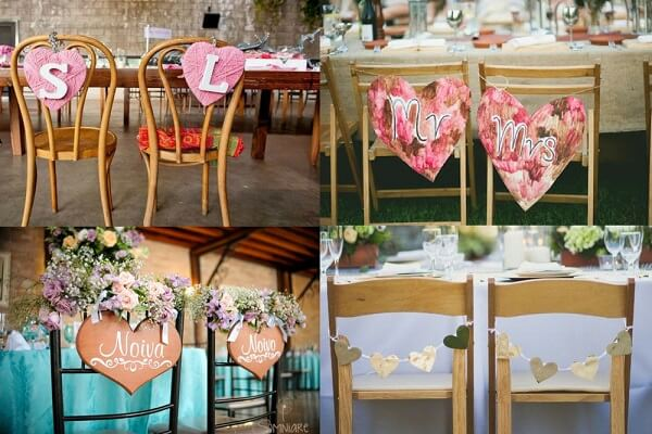 Assorted Wedding Plate Templates for Grooms Chair