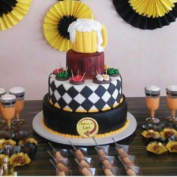 Personalized cake bar party