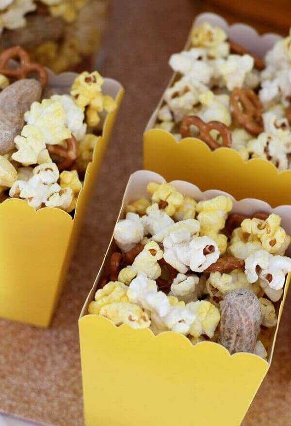 Pub party with various popcorn to serve the guests