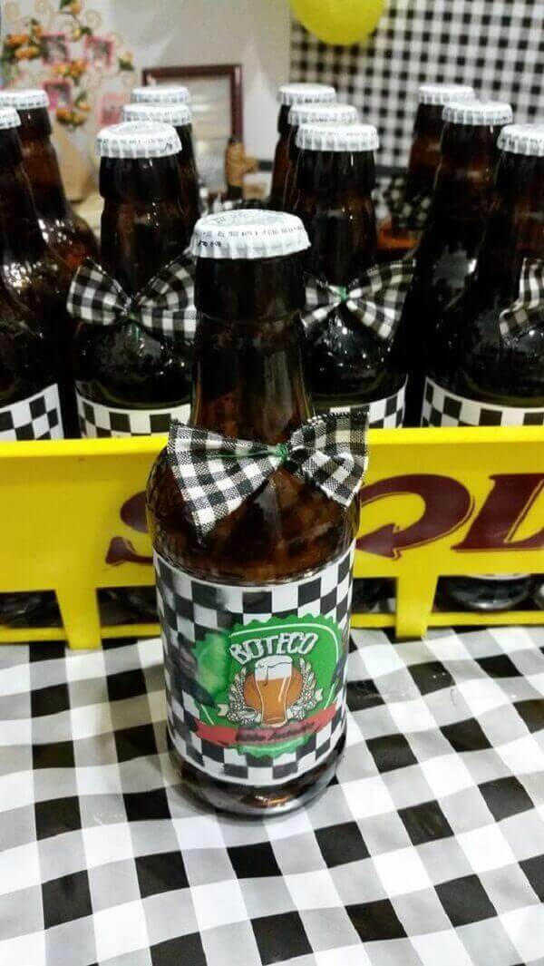 Pub party beer bottle decorated