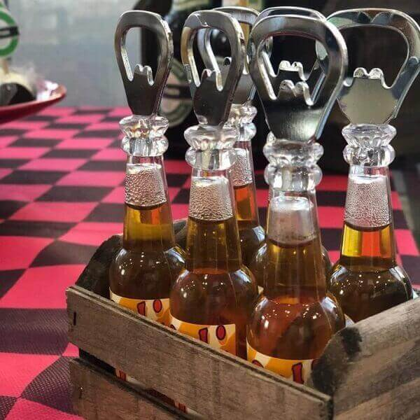 Bar party souvenirs with opener